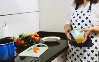 cocina a domicilio Málaga, congelador lleno